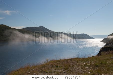 View Over Fjord In Northern Norway