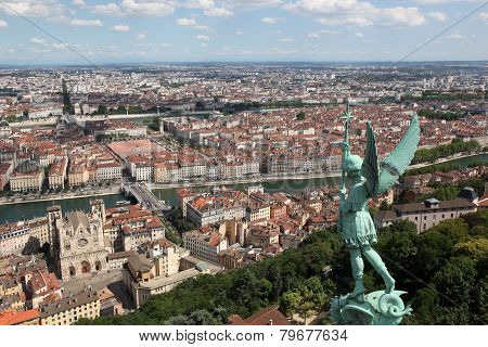 View of the city of Lyon