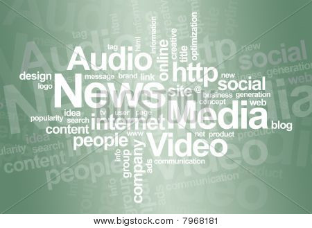 News and media - word cloud