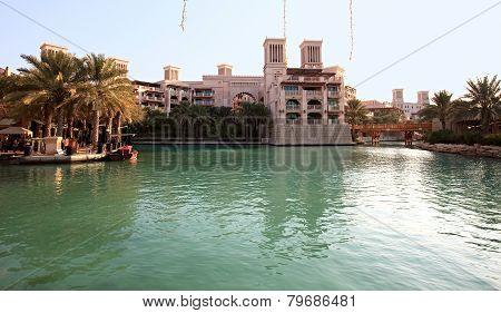 Area of the Madinat Jumeirah complex. Dubai. UAE. poster