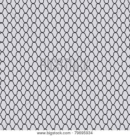 Traditional japanese kimono pattern. Seamless vector illustration. Plain hand-drawn texture.