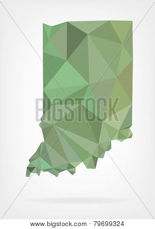 Low Poly map of Indiana state