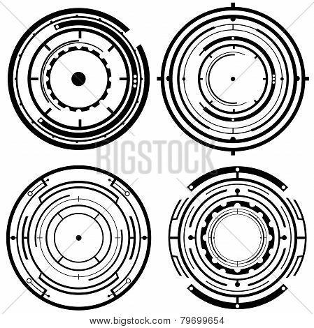 Futuristic Tech Circles