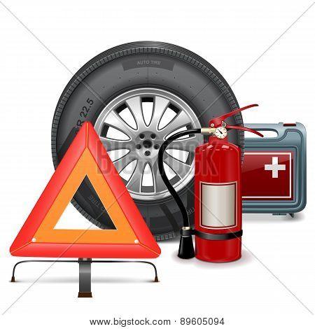 Vector Car Parts Consept