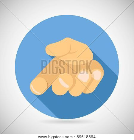 open Palm Pleading Icon Giving Hand Symbol Concept Flat Design Vector Illustration