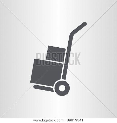 Handle hand truck icon