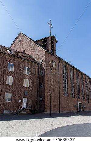Church built of bricks at St.-Jakobs-Platz in Munich