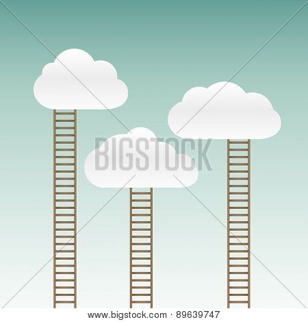 Stairs Leading To The Clouds