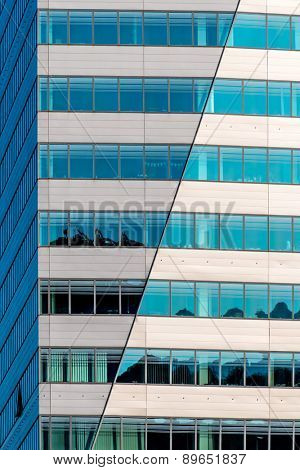 modern architecture for offices and shops. windows