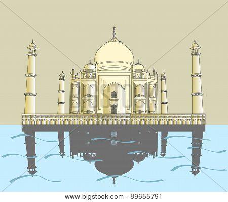 Taj Mahal. Indian palace