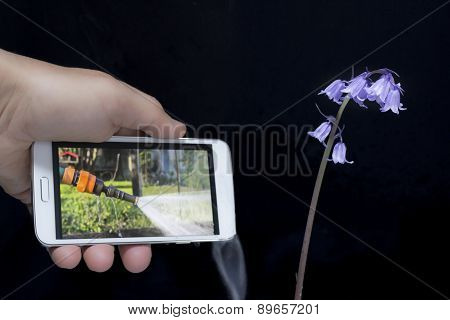Watering Whith Smartphone