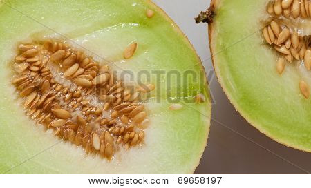 Closeup Melon With Pips