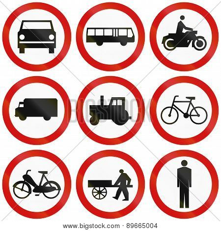 Prohibition Signs In Poland