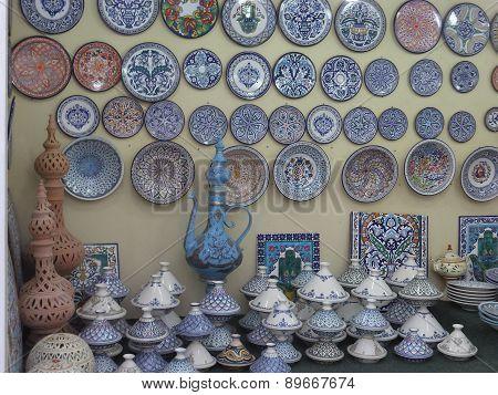 Tunisian pottery at Global Village in Dubai, UAE
