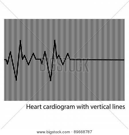 Black Heart Cardiogram