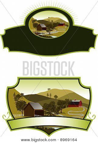 American Farm Scene Labels
