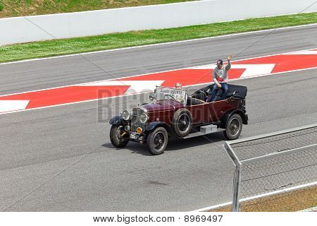 BARCELONA- MAY 9:Jaime Alguersuari of STR-Ferrari on parade of pilots before a stage of race the For