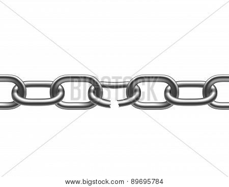 Broken Metal Chain