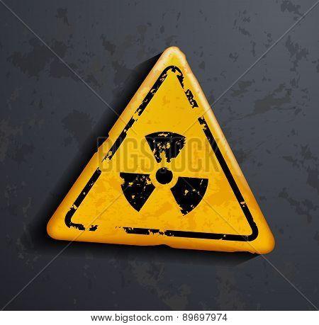 Vector Danger Sign Of Radioactivity