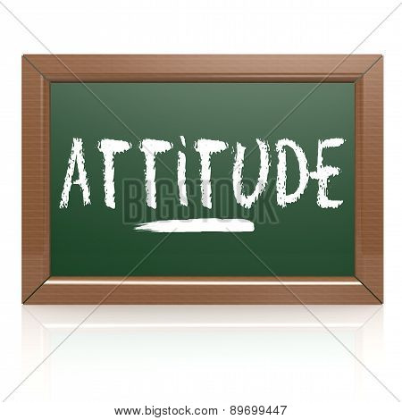 Attitude Word Written On Chalk Board