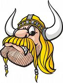 Cartoon Viking head. Vector and high resolution jpeg files available. poster