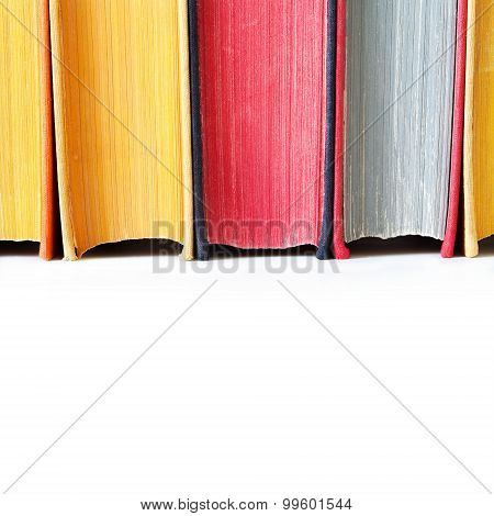 Aged Colorful Book Spines