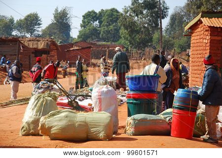 The Monthly Market In The Village Of Pomerini In Tanzania, Africa 517