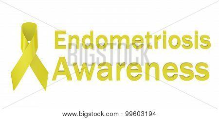 Yellow Ribbon Endometriosis Awareness
