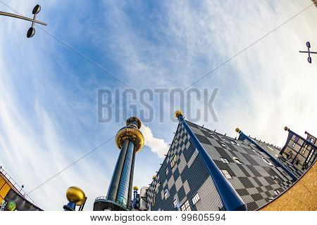 Chimney Of  The Most Famous District Heating In Vienna