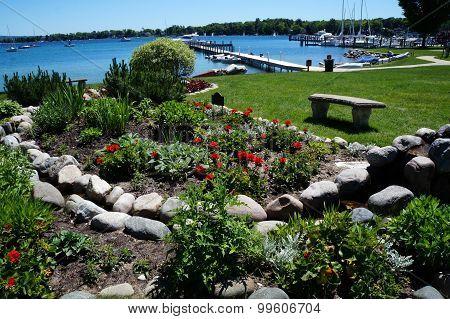 Lakefront Flower Garden