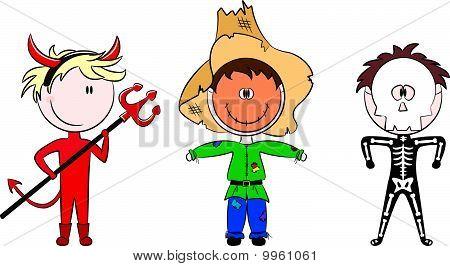 Children dressed in costumes