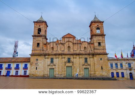 Historic Cathedral of Santisima Trinidad y San Antonio de Padua at Zipaquira, located in middle Colo