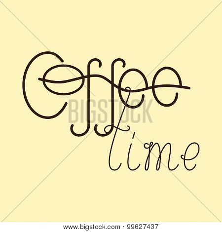 Coffee Time Lettering