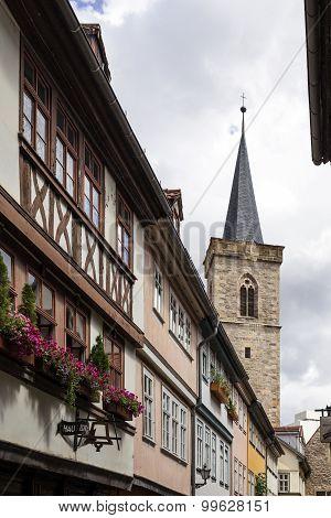 Kraemberbruecke and Roter Turm in Erfurt