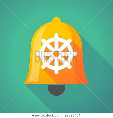 Bell Icon With A Dharma Chakra Sign