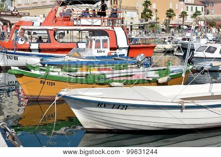 Boats in the port of Rovinj
