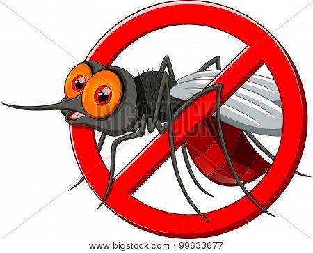 Stop mosquito cartoon