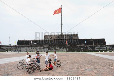 Vietnamese boys in Hue