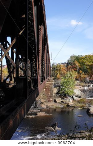 railroad over Androscoggin River