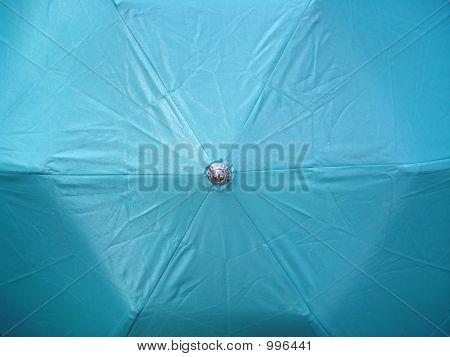Open Light Blue Umbrella