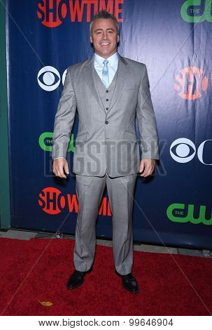LOS ANGELES - AUG 10:  Matt LeBlanc arrives to the Summer 2015 TCA's - CBS, The CW & Showtime  on August 10, 2015 in West Hollywood, CA