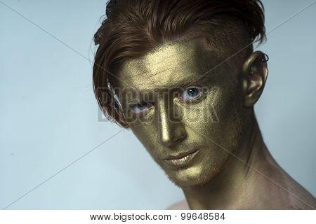 Portrait Of Golden Man