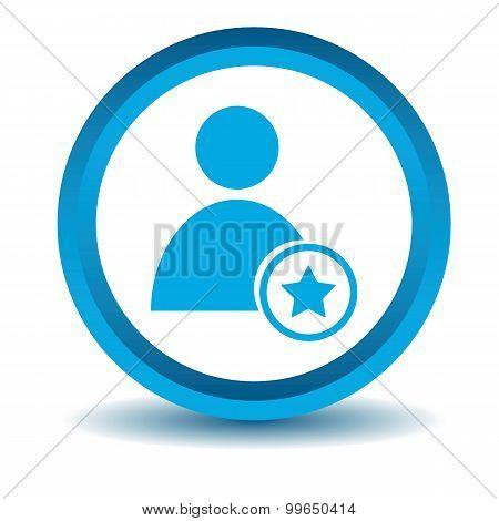 Favorite user icon, blue, 3D