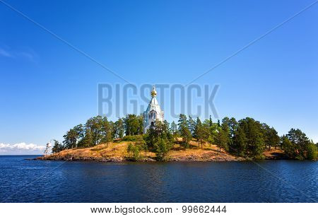 Valaam. A Monastery Of The Prelate Nikolay In The Sunny Summer Day