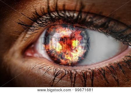 Eye With Fire