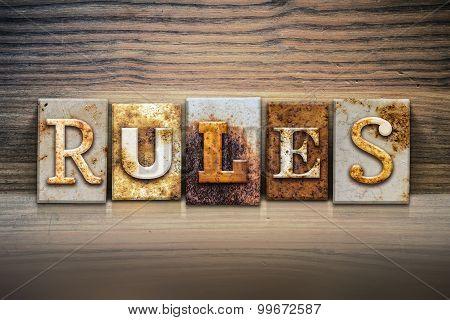 Rules Concept Letterpress Theme