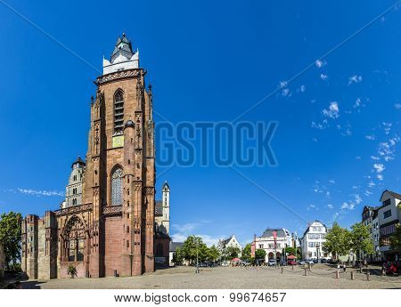 WETZLAR, GERMANY - JUNE 5, 2014: famous Wetzlar dome at the central market place