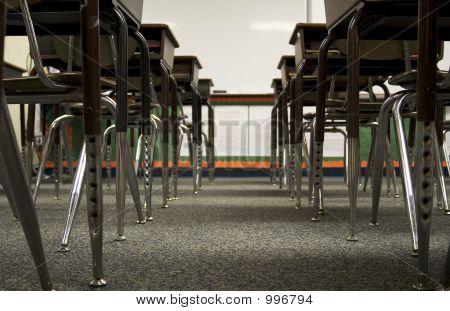 Low View Of Desks