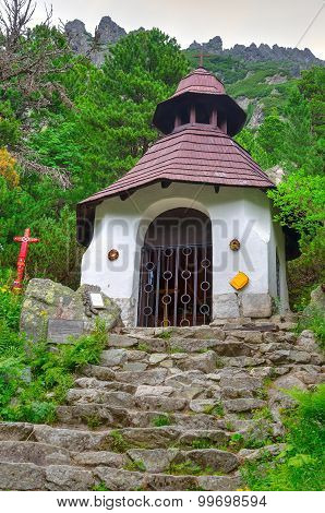Symbolical Cemetery under Ostrva in High Tatra Mountains Slovakia.