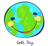 earth day, earth planet celebration day, childlike painting poster